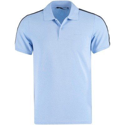 Picture of Airforce M0563 mens polo shirt light blue