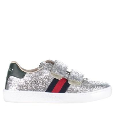 Afbeelding van Gucci 463090 KUSU0 kindersneakers zilver