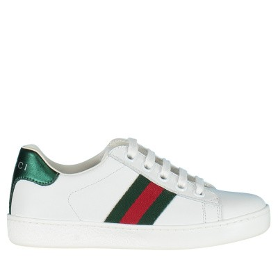 Picture of Gucci 433148 kids sneakers white