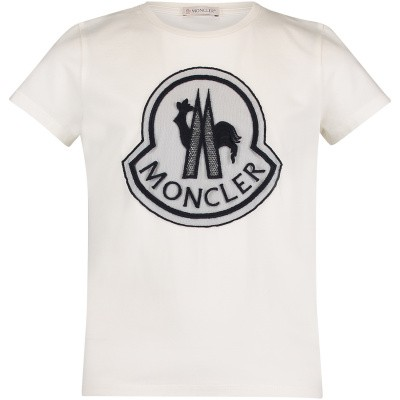 Picture of Moncler 8069505 kids t-shirt off white