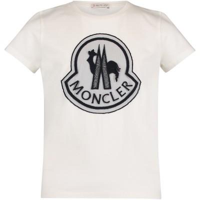 Afbeelding van Moncler 8069505 kinder t-shirt off white