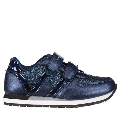 Picture of Tommy Hilfiger T1A430011 kids sneakers navy