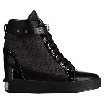 Afbeelding van Guess FLFRY3FAL12 dames wedgesneakers zwart