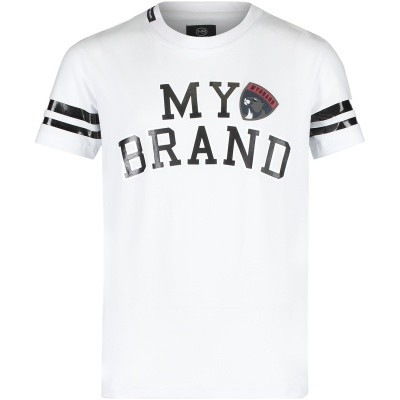 Afbeelding van My Brand BMBTS001G3036 kinder t-shirt wit