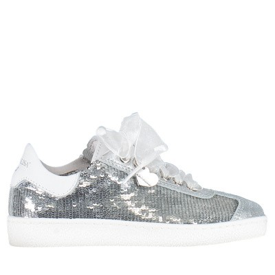 Picture of MonnaLisa 873016 kids sneakers silver