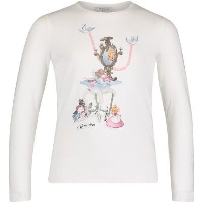 Afbeelding van MonnaLisa 112621SN kinder t-shirt off white