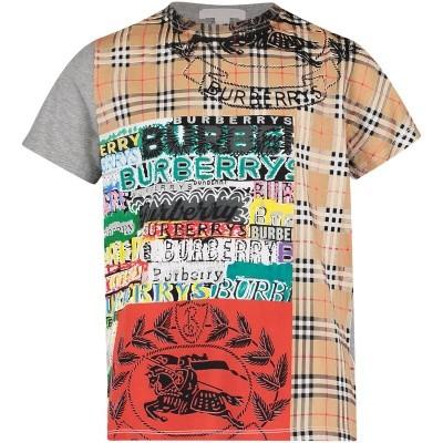 Afbeelding van Burberry 8002337 kinder t-shirt grijs