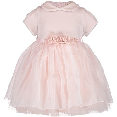 Afbeelding van MonnaLisa 732906 babyjurkje licht roze