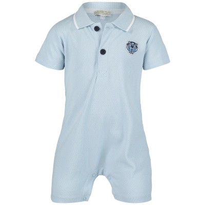 Picture of Kenzo KN33503 baby playsuit light blue