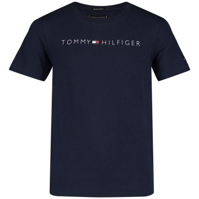 Picture of Tommy Hilfiger KB0KB04865 kids t-shirt navy