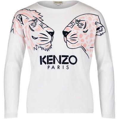 Afbeelding van Kenzo KM10078 kinder t-shirt wit