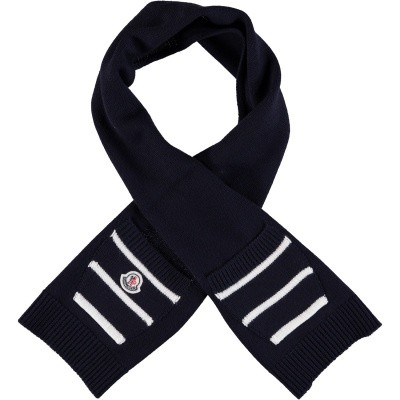 Picture of Moncler 9900305 baby scarf navy