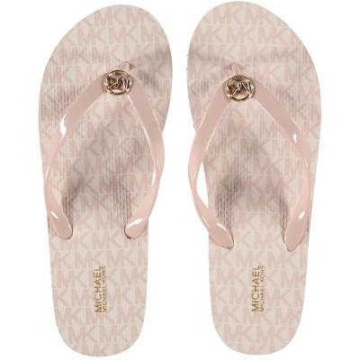Afbeelding van Michael Kors 40S7MKFA4Q dames slippers licht roze
