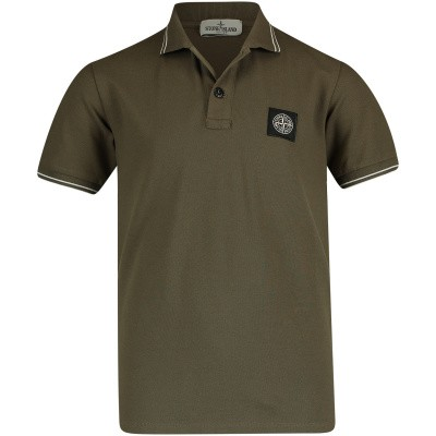 Picture of Stone Island 701621348 kids polo shirt army