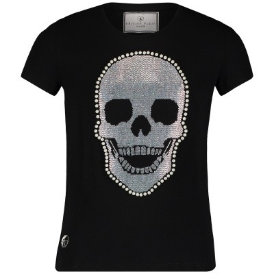Afbeelding van Philipp Plein GTK0358 kinder t-shirt zwart