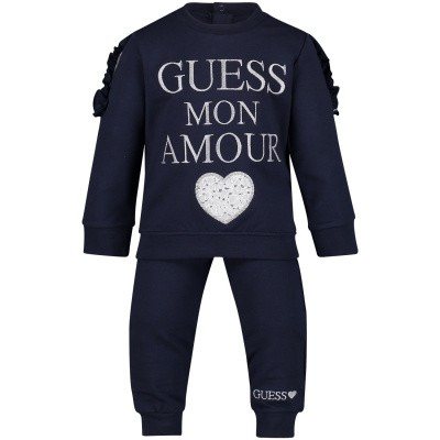 Picture of Guess A91G12 baby sweatsuit navy