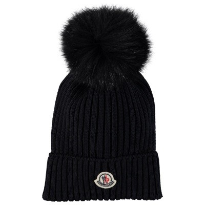 Picture of Moncler 0025605 kids hat navy