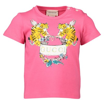 Picture of Gucci 555675 XJAPU baby shirt fuchsia