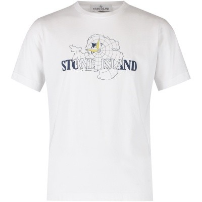 Picture of Stone Island 691621052 kids t-shirt white