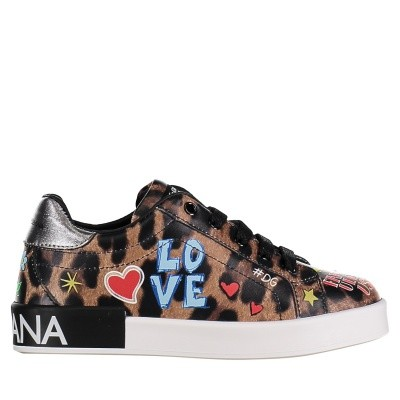Picture of Dolce & Gabbana D10656 AV686 kids sneakers panther