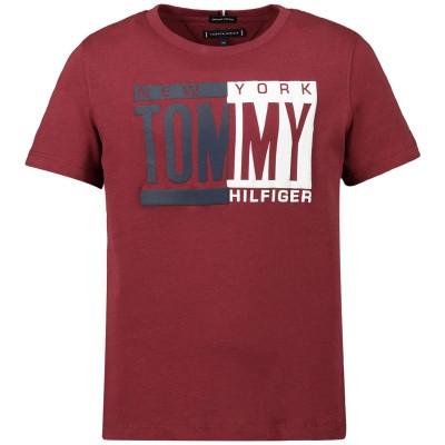 Afbeelding van Tommy Hilfiger KB0KB04994 kinder t-shirt bordeaux