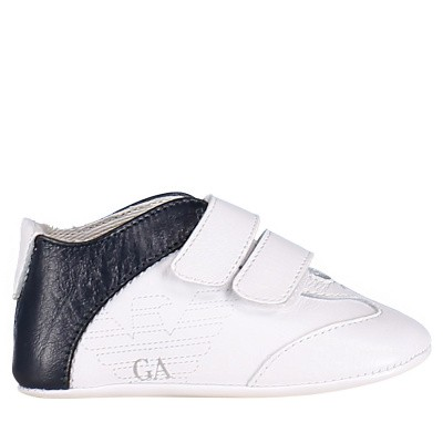 Picture of Armani XLX002 baby shoes white