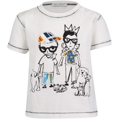 Picture of Dolce & Gabbana L1JT8EG7OPX baby shirt white