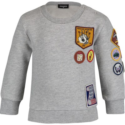 Picture of Dsquared2 DQ03FH baby sweater grey