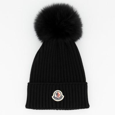 Picture of Moncler 0025605 kids hat black