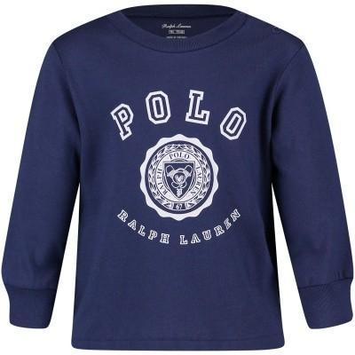 Afbeelding van Ralph Lauren 320703479 baby t-shirt navy
