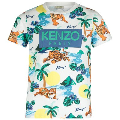 Picture of Kenzo KN10598 kids t-shirt white