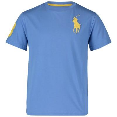 Afbeelding van Ralph Lauren 703646K kinder t-shirt licht blauw