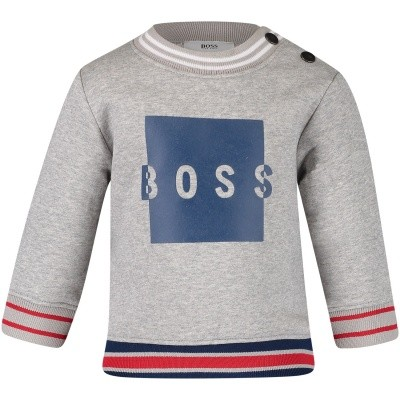 Picture of Boss J05671 baby sweater grey