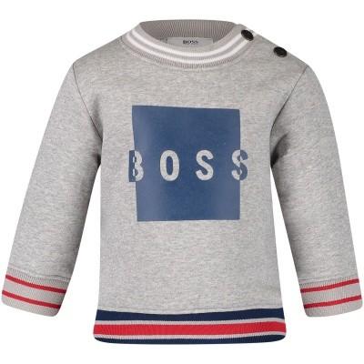 Afbeelding van Boss J05671 baby trui grijs