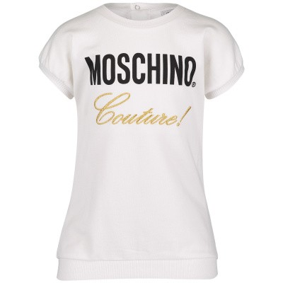 Picture of Moschino MDV07C baby dress off white