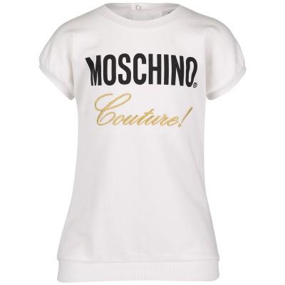 Afbeelding van Moschino MDV07C babyjurkje off white