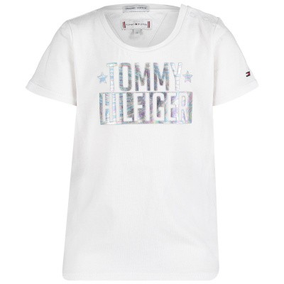 Picture of Tommy Hilfiger KG0KG04084B baby shirt white