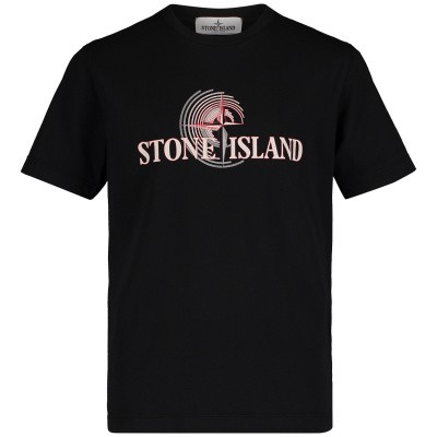 Picture of Stone Island 701621455 kids t-shirt black