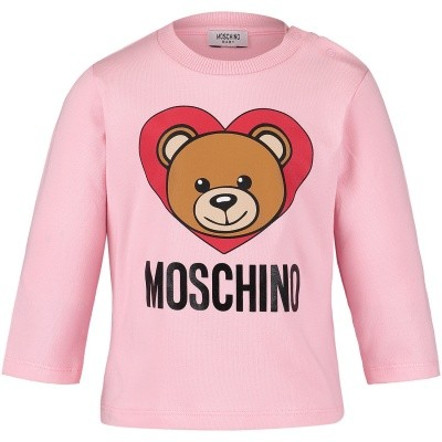 Picture of Moschino M6M01L baby shirt pink
