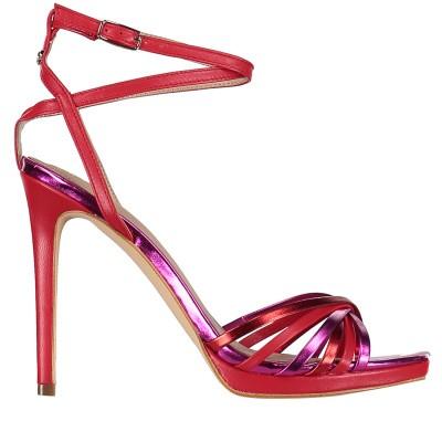 Afbeelding van Guess FL6TNYLEA03 dames sandalen rood