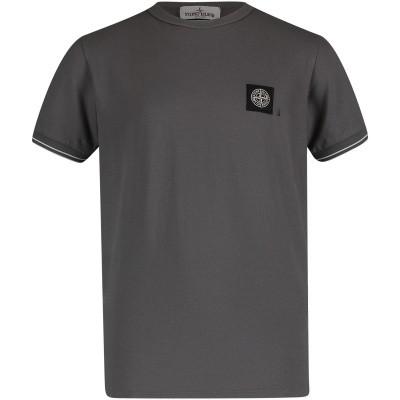 Picture of Stone Island 701620348 kids t-shirt dark gray