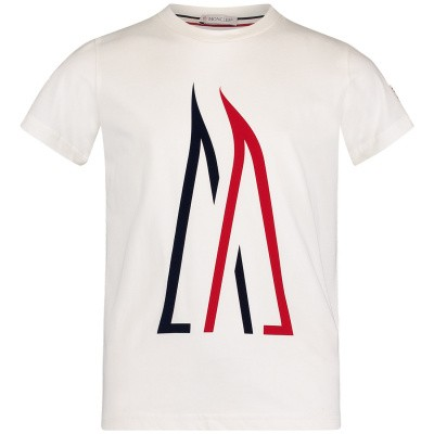 Picture of Moncler 8023750 kids t-shirt off white