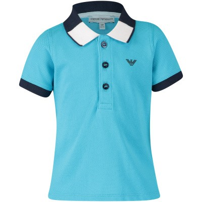 Picture of Armani 3GHF01 baby poloshirt turquoise