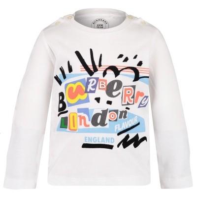 Afbeelding van Burberry 8002642 baby t-shirt wit
