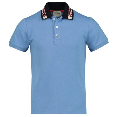 Picture of Gucci 522342 kids polo shirt green