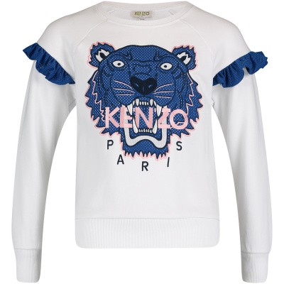 Picture of Kenzo KN15098 kids sweater white
