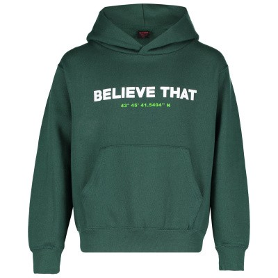 Picture of Believe That HOODIE BELIEVE THAT kids sweater green