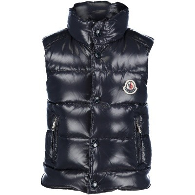Picture of Moncler 4332905 baby bodywarmer navy