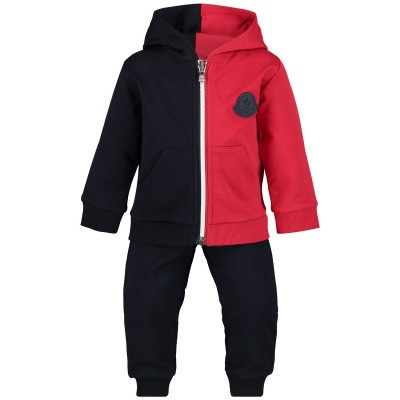 Picture of Moncler 8812005 baby sweatsuit navy