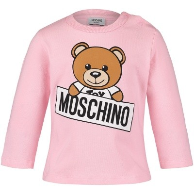 Picture of Moschino M5M01L baby shirt pink